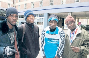 Members of Di Blue Print, which won the Global Battle of the Bands title in London on Sunday night, are seen here ahead of their performance.