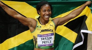 Shelly-Ann Fraser-Pryce, pictured here after retaining his 100m title at the 2012 summer games in London, says she was faced with accusations of drug use during the world championships in Moscow last month.. greatrun.org
