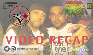 Fresh Cut (left) and Junior Don (right) of Outcast Sound enjoy patio breeze and hot music @ SOCA REGGAELUTION XXV on the last day of August